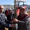 Karabük'te çiftçilere fidanlar ve arısız kovan desteği