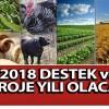2018 destek ve proje yılı olacak