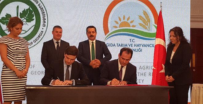 Türkiye-Gürcistan Tarım Yürütme Komitesi Toplantısı Protokolü imzalandı