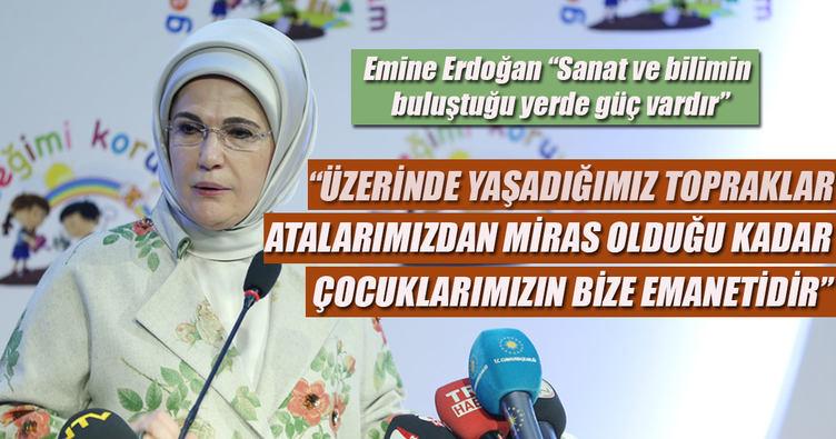 Emine Erdoğan: Evlatlarımız yüksek hassasiyet kazandı