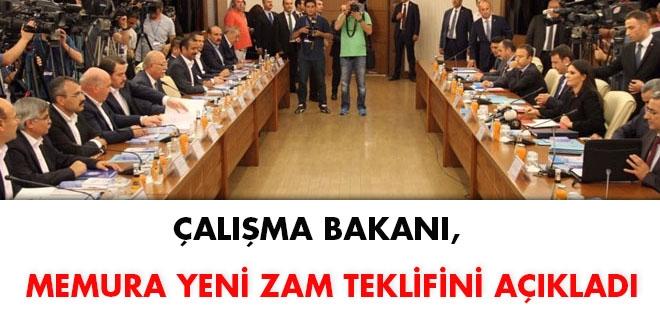 Çalışma Bakanı memura yeni zam teklifini açıkladı