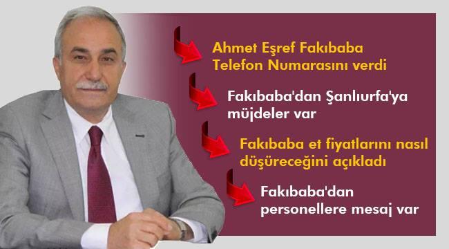 Ahmet Eşref Fakıbaba Telefon numarasını verdi