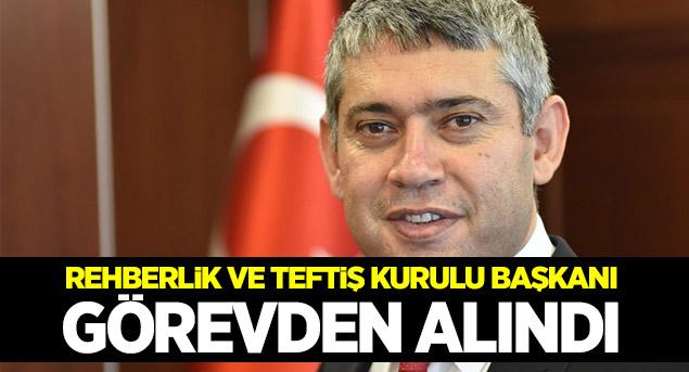 Rehberlik ve Teftiş Kurulu Başkanı Münir Uğuz görevden alındı!