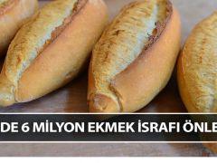 Ekmek israfı önlendi