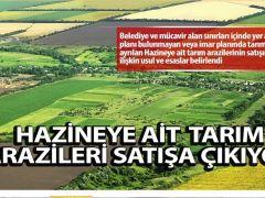 Hazineye ait tarım arazileri satışa çıkıyor
