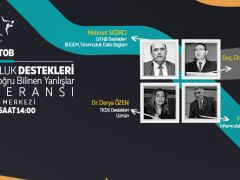 TÜRKTOB  İzmir AGROEXPO 13. Uluslararası Tarım, Sera ve Hayvancılık Fuarı'nda Tohumculuk Destekleri ve Tohumda Doğru Bilinen Yanlışlar konulu konferans düzenleyecek.