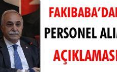 Fakıbaba'dan personel alım açıklaması