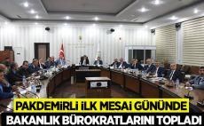 Tarım Bakanı Pakdemirli: İlk toplantıyı gerçekleştirdi