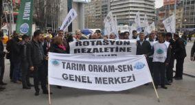 Tarım Orkam-Sen'den Targel rotasyon protestosu