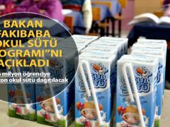 """Bakan Fakıbaba """"Okul Sütü Programı""""nı açıkladı"""