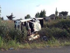 Silivri İlçe Tarım ve Orman Müdürü Kemal Benli'nin de içinde bulunduğu araç takla attı.