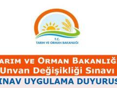 Tarım Bakanlığı, unvan değişikliği uygulama duyurusu
