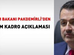 Tarım Bakanı Pakdemirli'den norm kadro açıklaması