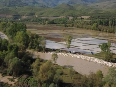 Kastamonu'nun Hanönü ilçesinde çeltik ekimine başlandı.