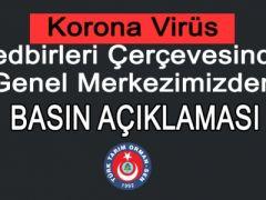 Türk Tarım Orman-Sen Korona Virüs Tedbirleri Basın Açıklaması