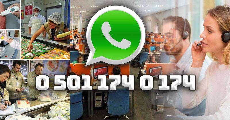 Gıda güvenliği için WhatsApp hattı