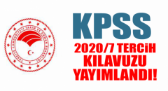 KPSS 2020/7 tercih kılavuzu yayımlandı