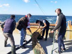 Kandıra İlçe Tarım ve Orman Müdürünün katılımıyla balıkçı tekneleri denetlendi